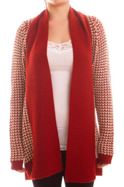 chunky-knit-cardigan-sweater-red