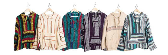 Vintage Baja Hoodies Drug Rugs Mexican Poncho Jackets 20 On