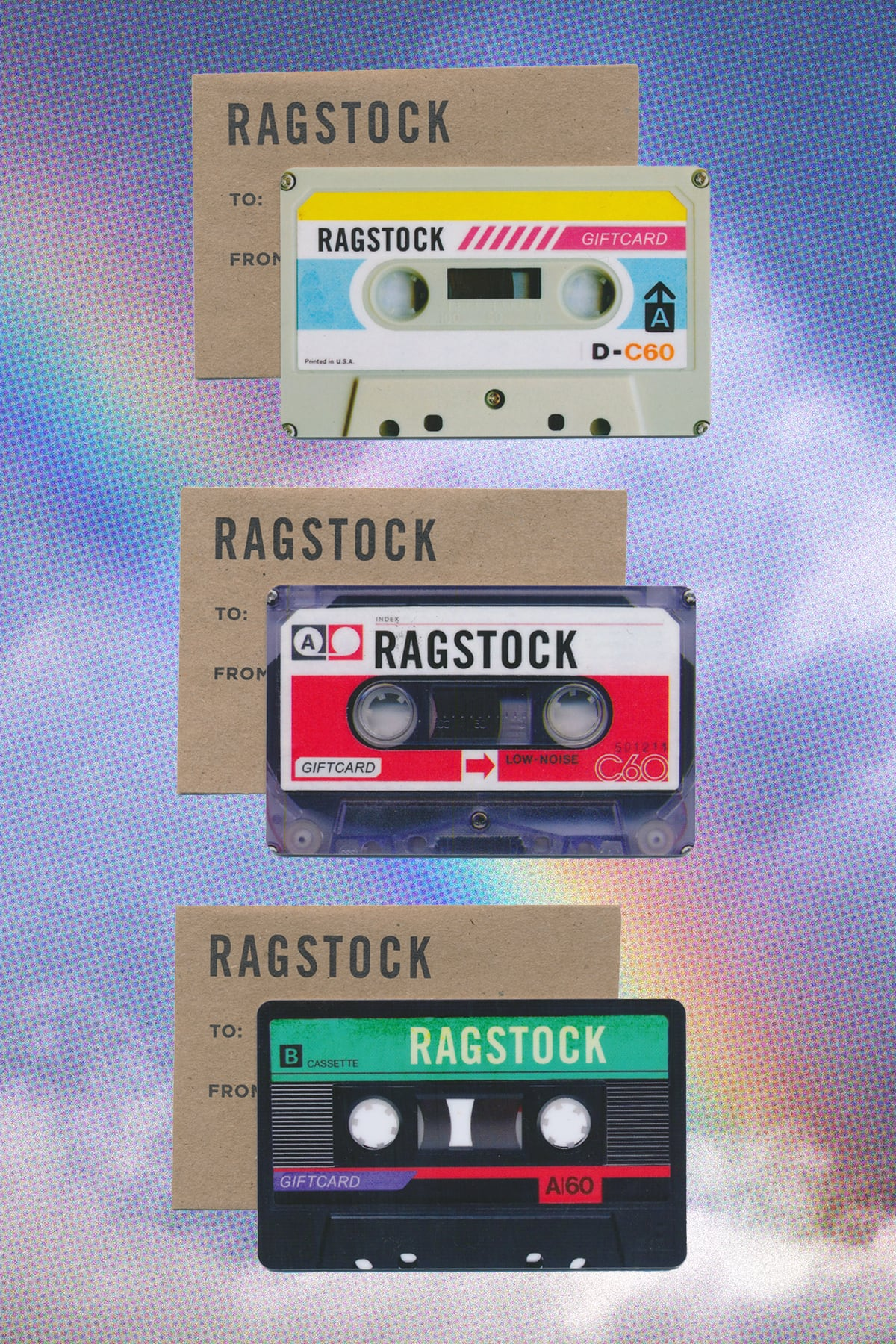 ragstock gift cards and envelopes
