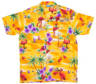 hawaiian-shirt-flamingo-yellow