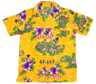 hawaiian-shirt-flowers-huts-yellow