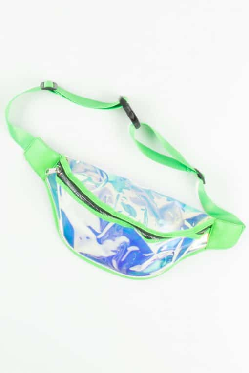 Iridescent Color Trimmed Fanny Packs