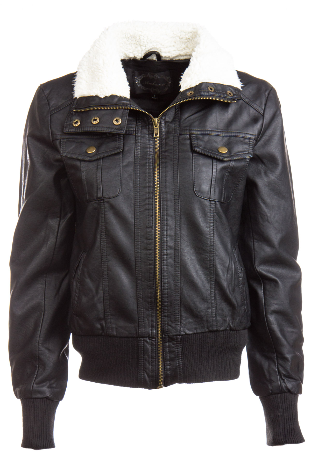 Leather Moto Jacket With Fur