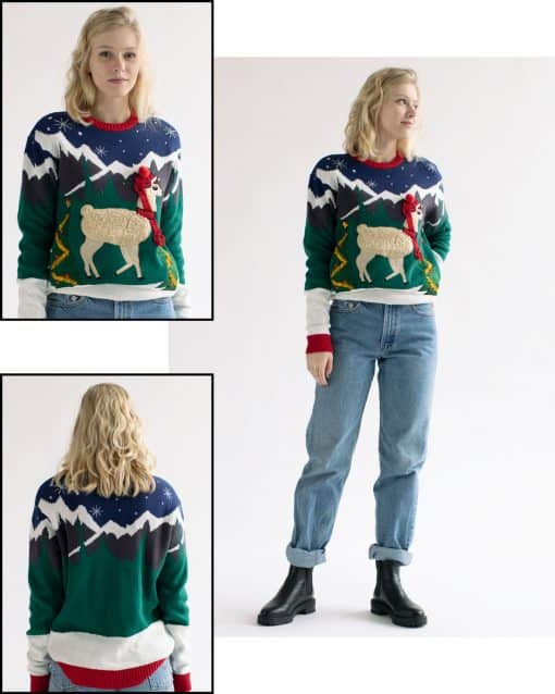 Christmas sweater with llama