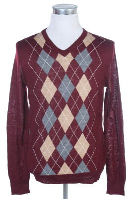 Men's Argyle Sweater 16 1