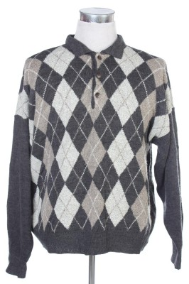 Men's Argyle Sweater 30 1