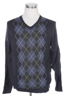 Men's Argyle Sweater 33 1