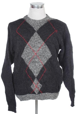 Men's Argyle Sweater 34 1