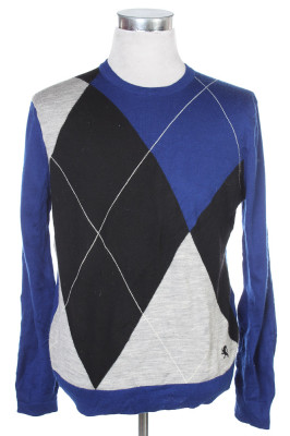 Men's Argyle Sweater 38 1