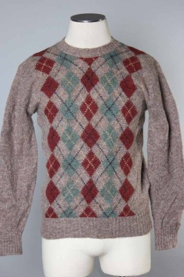 Men's Argyle Sweater 8 1
