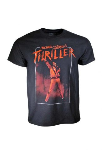 Michael Jackson Thriller Arm Up Black  T-Shirt