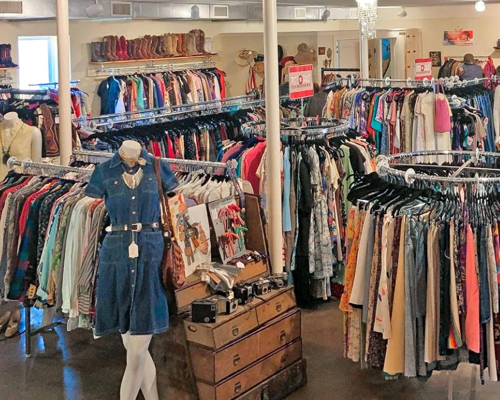 A view inside Anaconda Vintage store in Nashville Tennesee