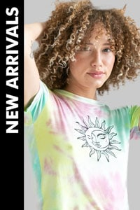 woman wearing tie-dye t-shirt