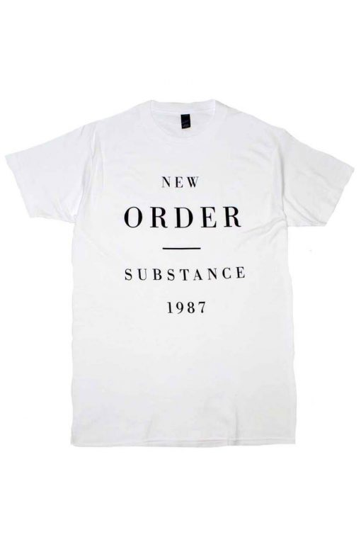 New Order Substance 1987 Band T-Shirt