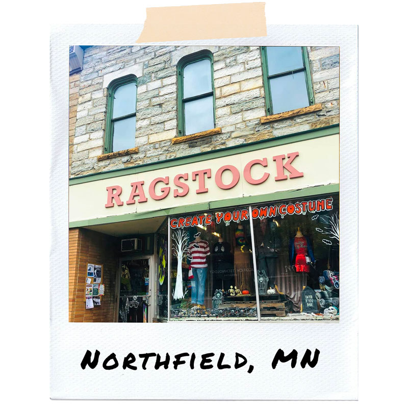 Polaroid photo of Northfield, MN store