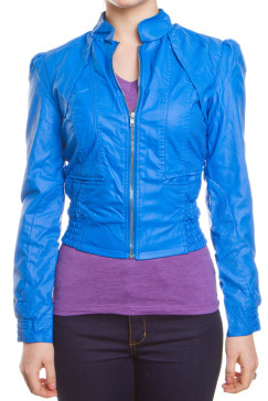 puffed-sleeve-perforated-faux-leather-moto-jacket-blue