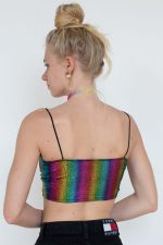 Rainbow Pride Snakeskin Knotted Top