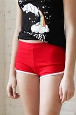 Red Athletic Dolphin Shorts