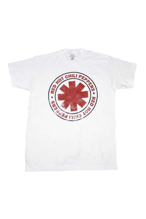 Red Hot Chili Peppers Distressed Outline Logo T-Shirt