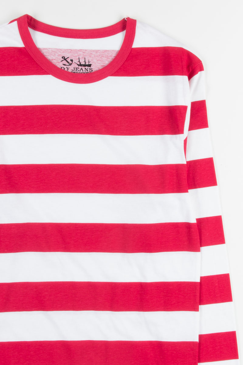 73bf020e4f4c1 Red And White Striped Long Sleeve Shirt