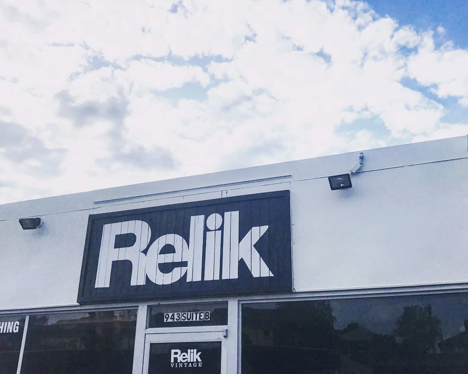 Front of Relik Vintage building in Nashville TN