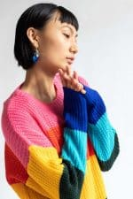 Retro Rainbow Sweater Dress