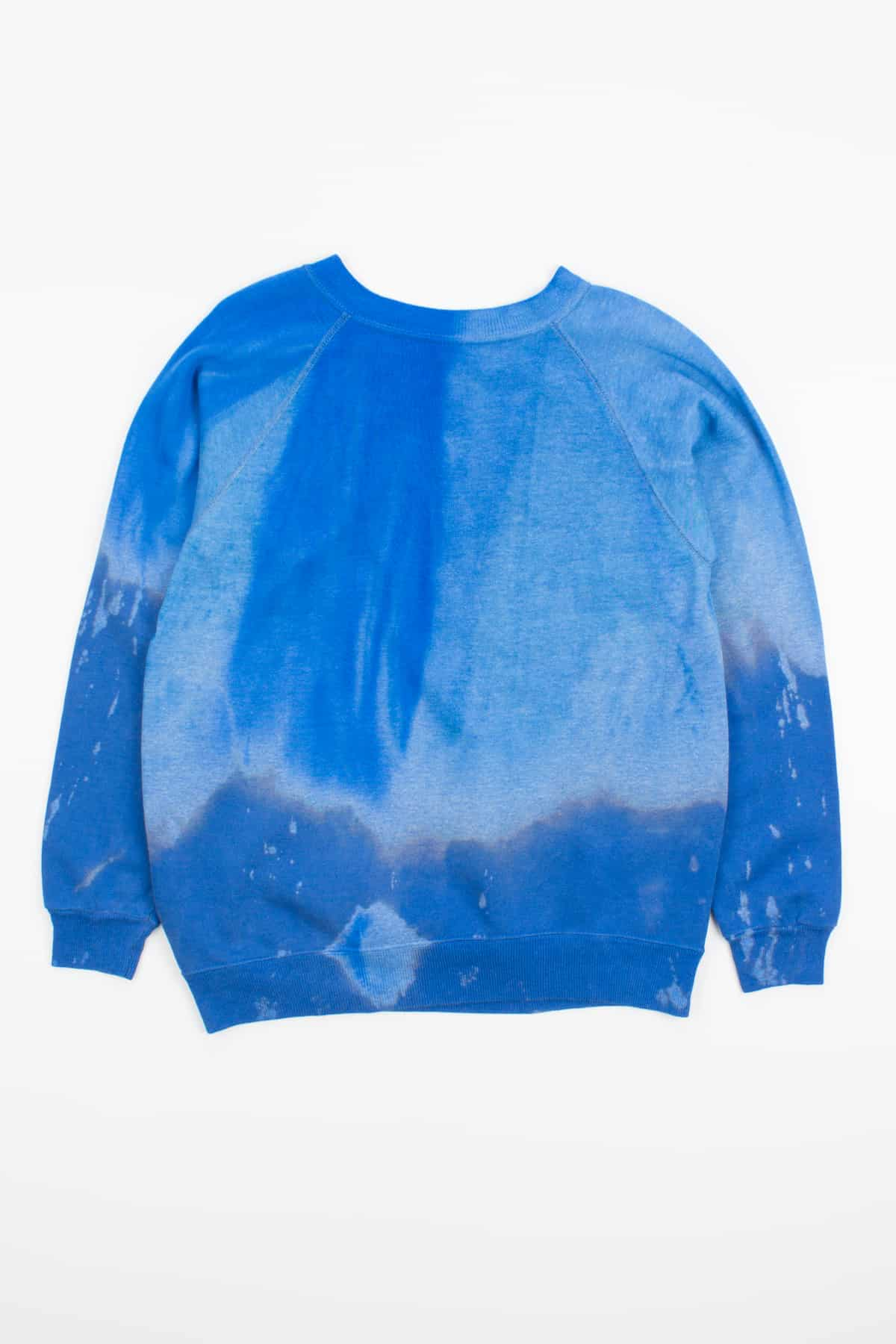Royal Blue Bleached Dipped Vintage Sweatshirt