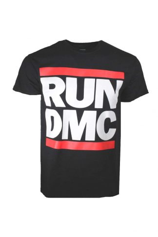 Run DMC Logo Black T-Shirt