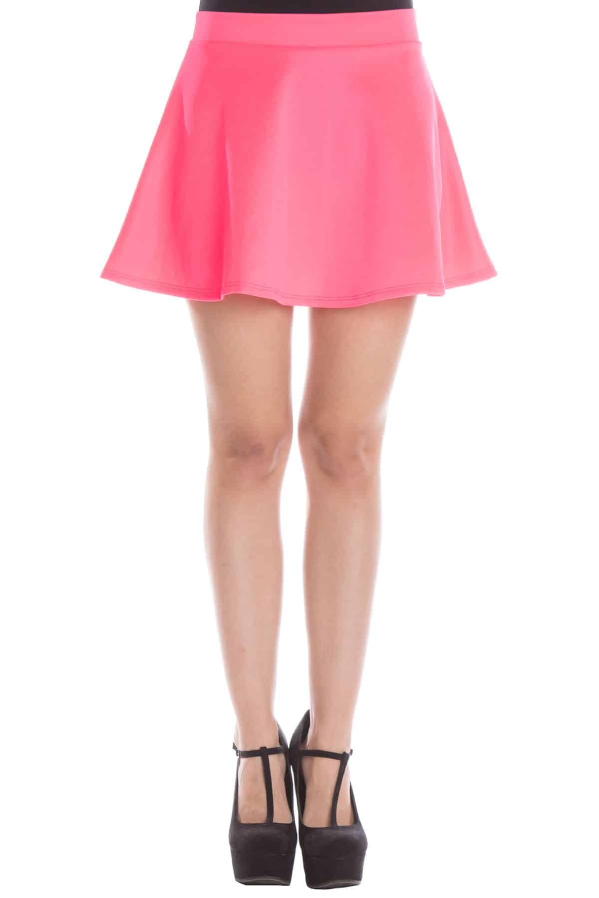 fuchsia scuba circle skirt