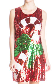 sequin candy cane dress 1 190x285 Ugly Christmas Sweaters