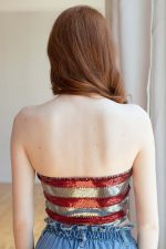 Sequin Red White & Blue Tube Top