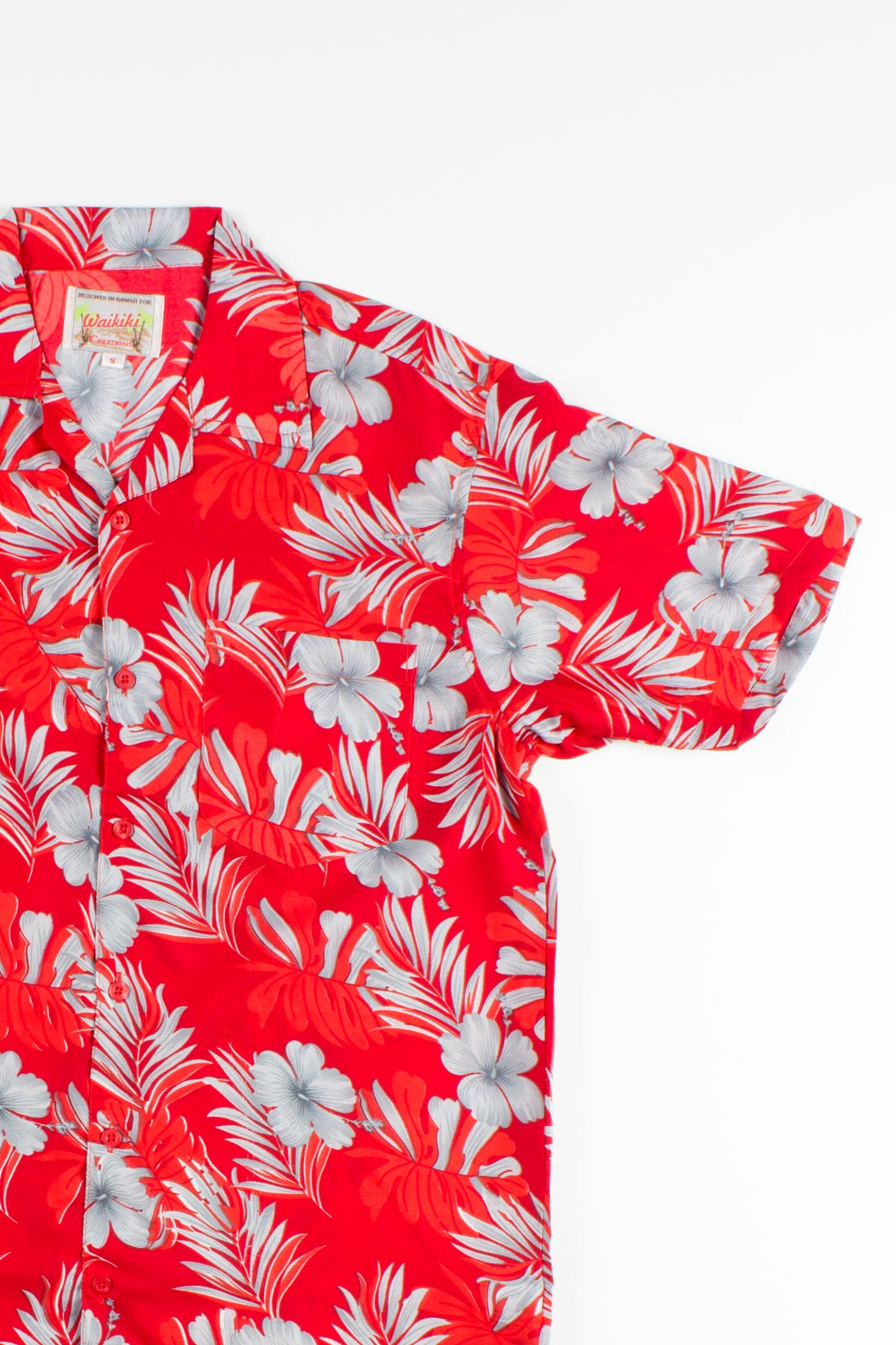 Shadowed Flower Print Hawaiian Shirt Ragstock
