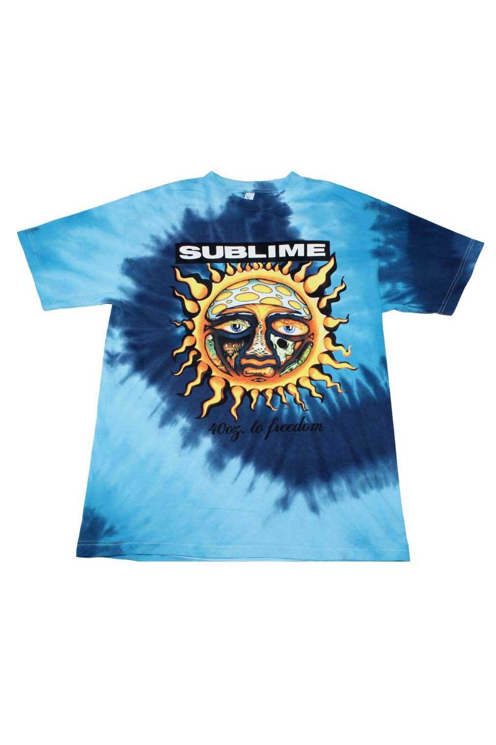 Sublime 40 Oz To Freedom Blue Tie Dye T-Shirt