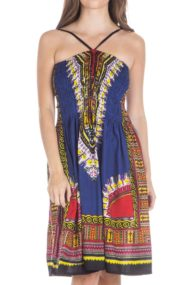 traditional african print dashiki halter tube dress NAVY 1 cropped 190x285 Home