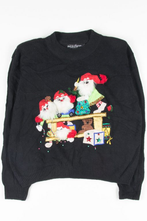 Black Ugly Christmas Pullover 51787