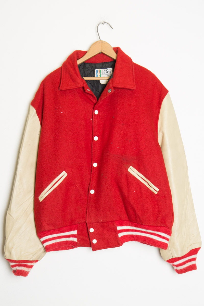 0180c2ff5 Red and Tan Letterman Jacket