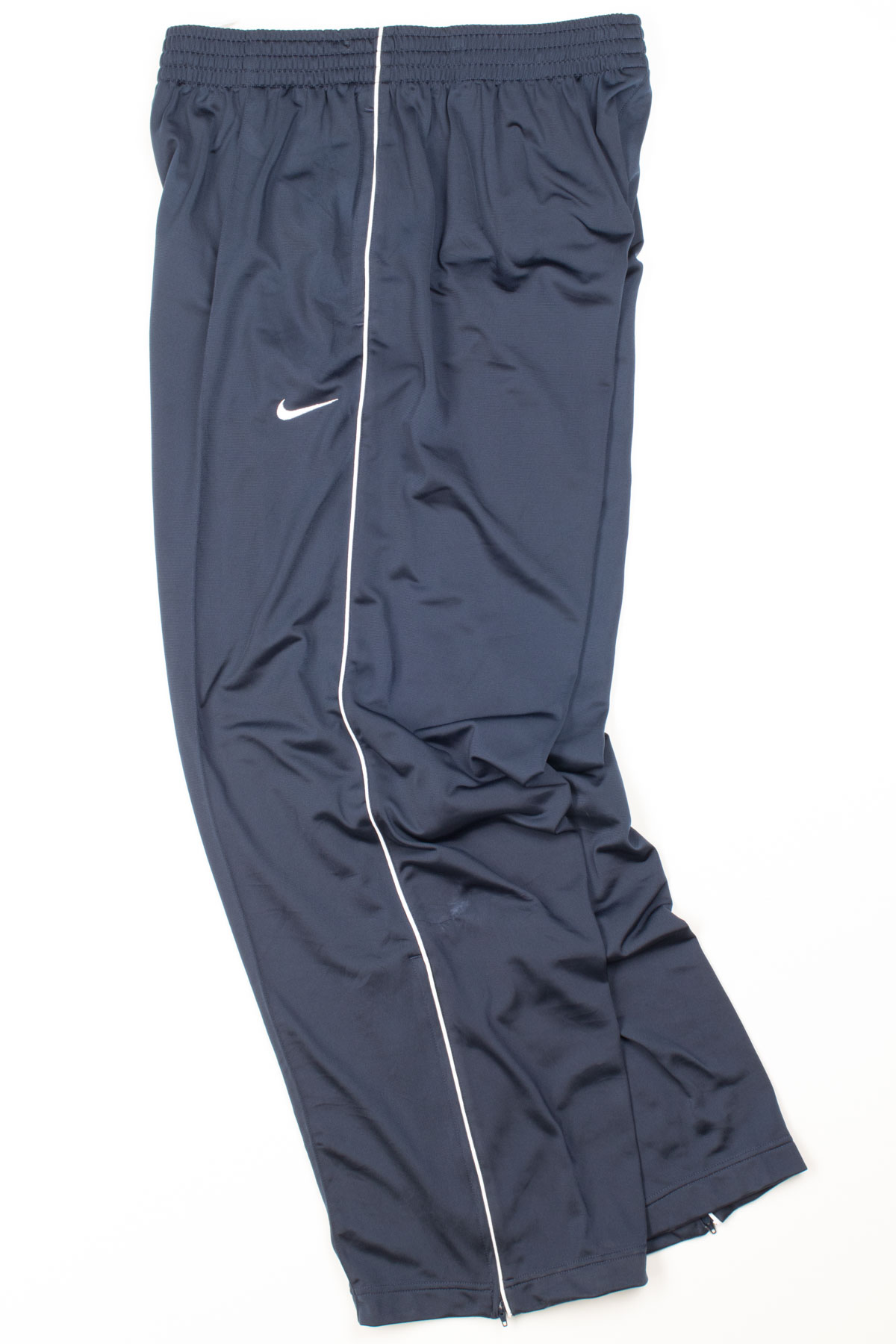 3a698f958e8c Navy Pleated Nike Track Pants - Ragstock