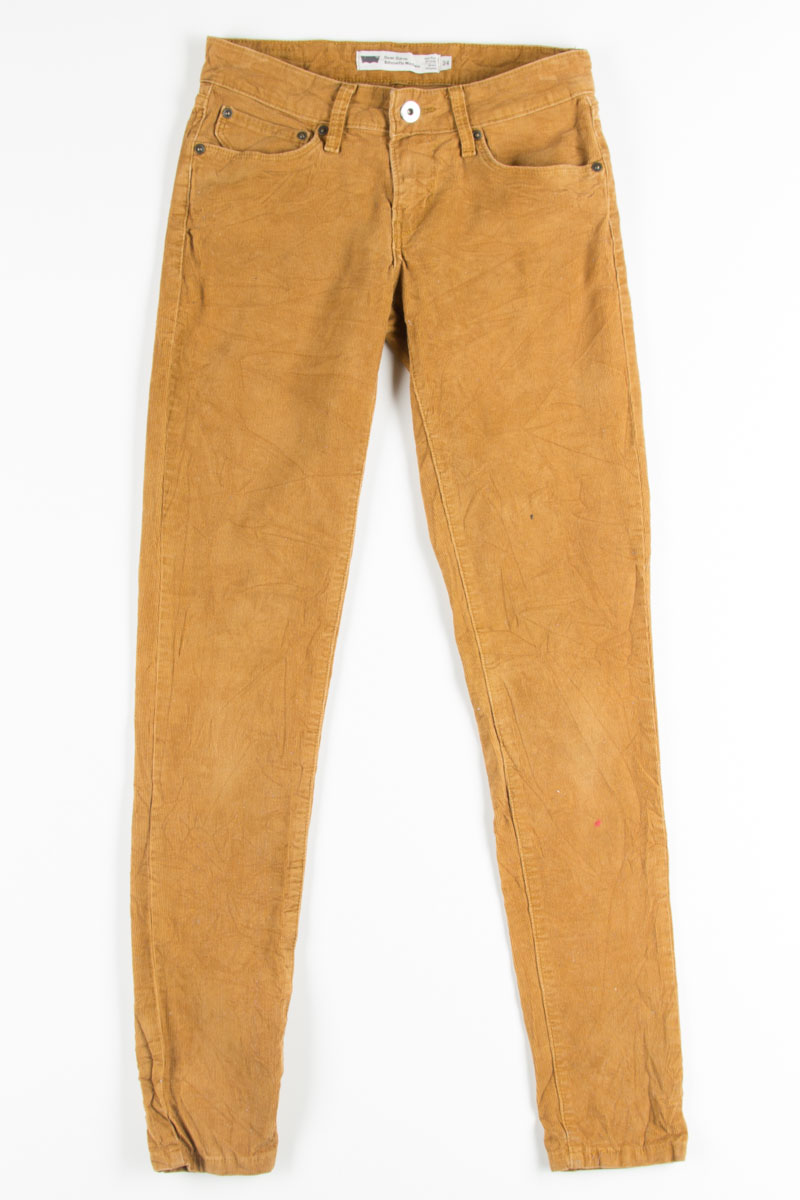 most popular official exceptional range of styles and colors Levi's Camel Corduroy Skinny Jeans