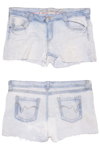 Cut Off Denim Shorts 32