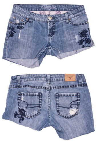 Cut Off Denim Shorts 37