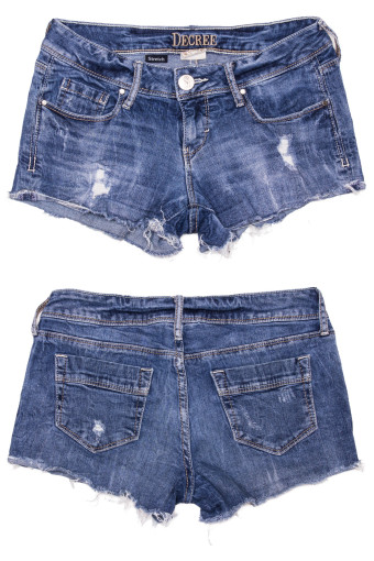 Cut Off Denim Shorts 46