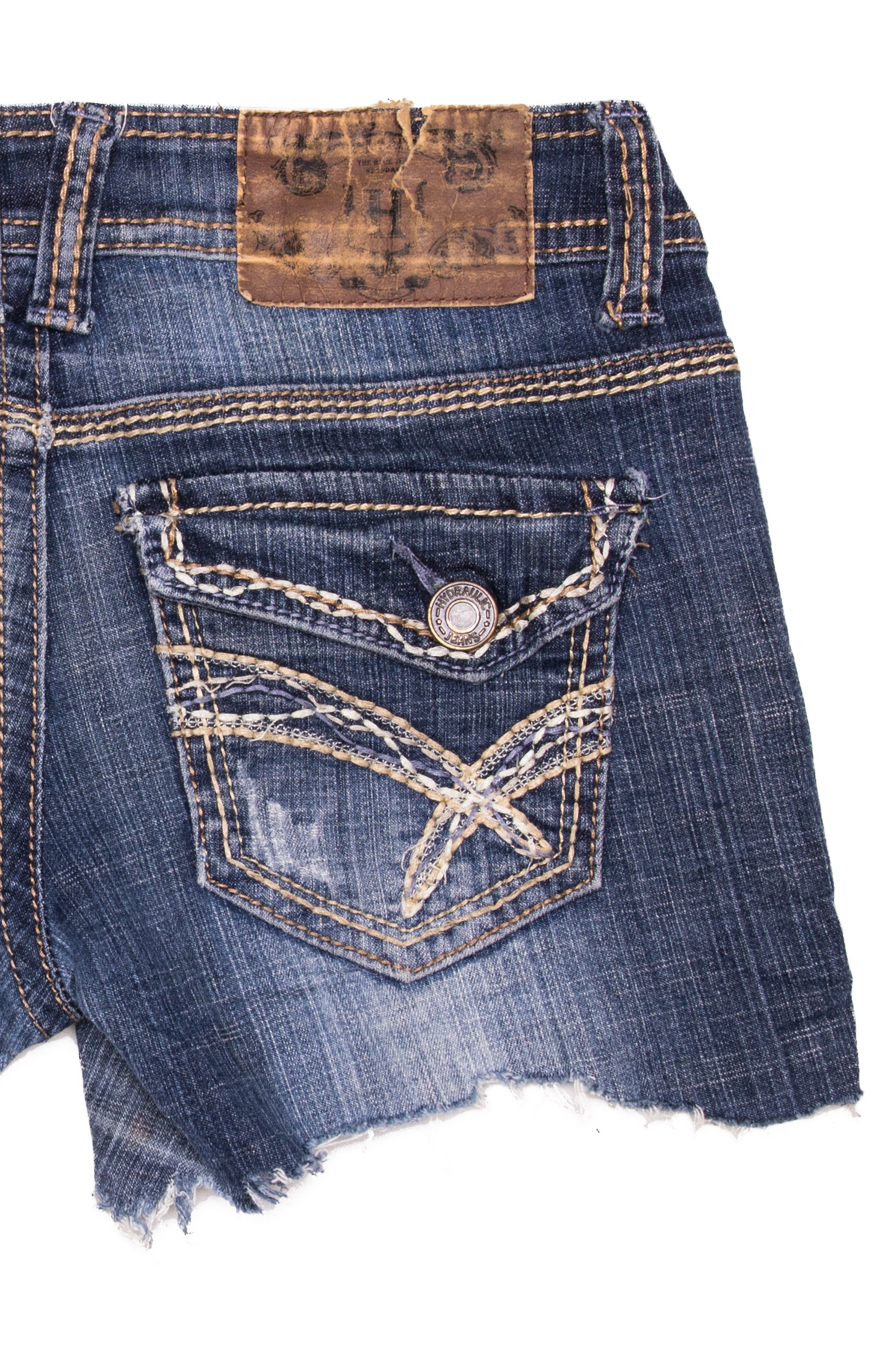 Cut Off Denim Shorts 40