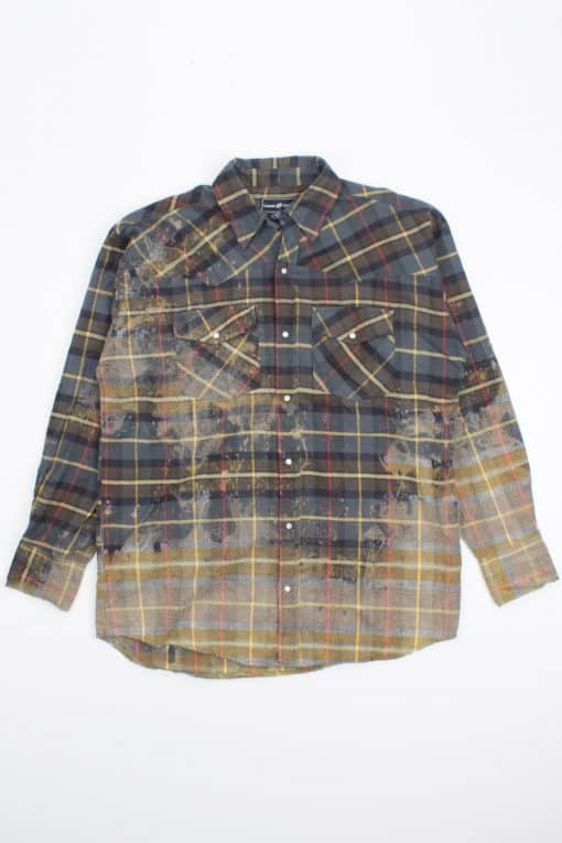 Bleached Pearl Snap Button Flannel
