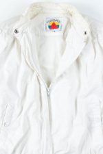 White Pleated Lightweight Jacket