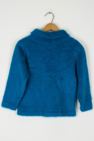 Kids Blue Fur Sweater