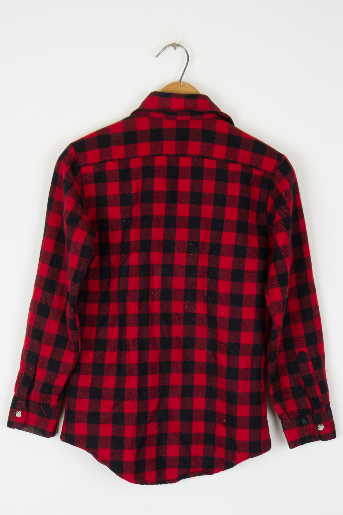 Kids Red Plaid Button Up