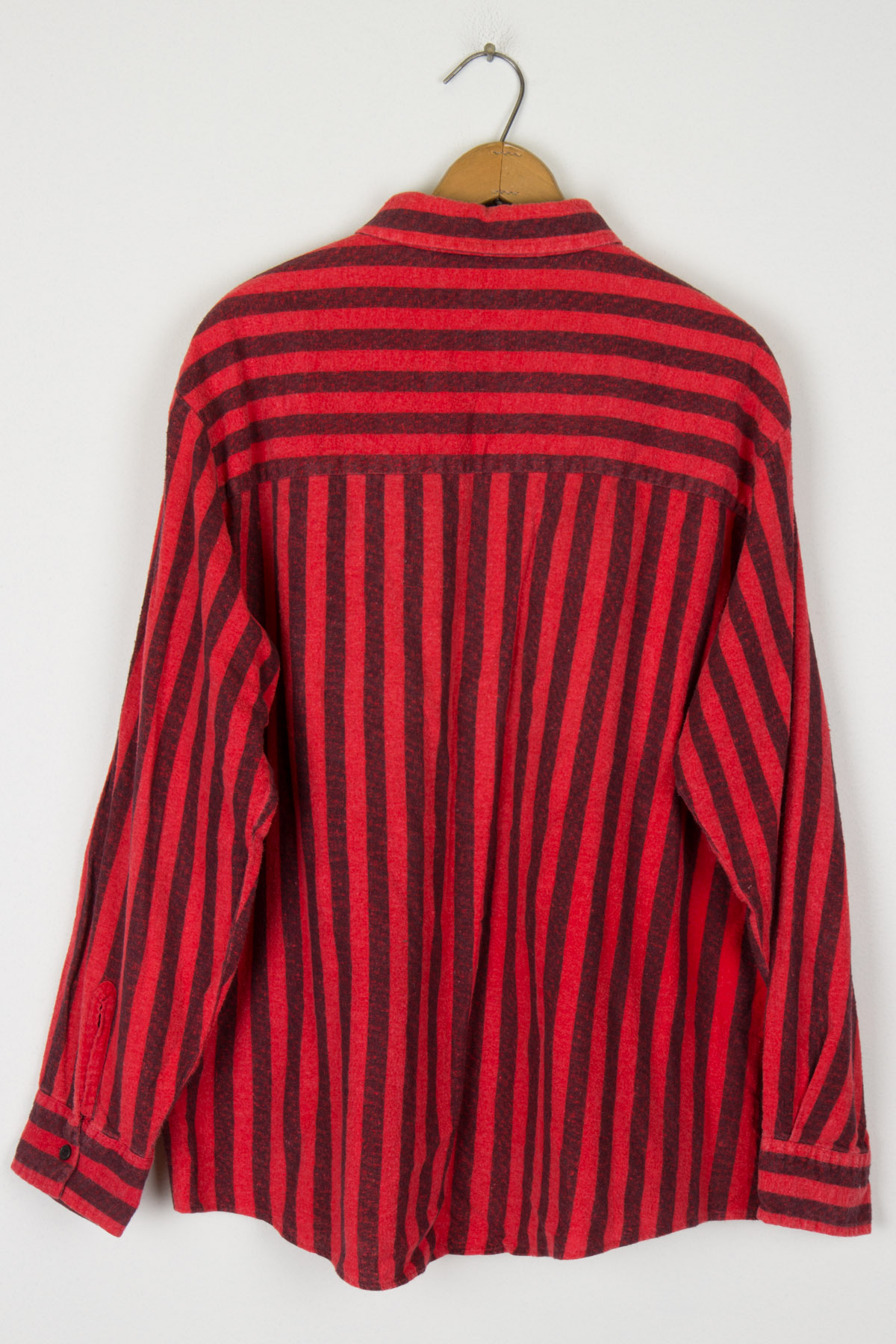 Red Striped Button Up