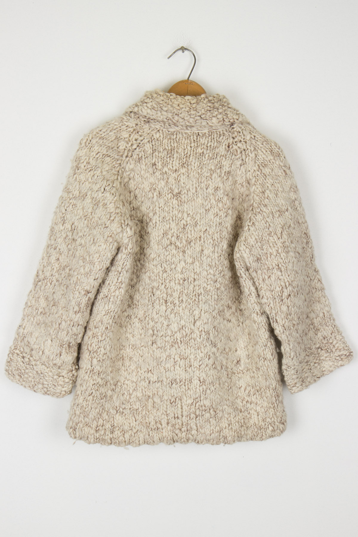 Large Knit 3/4 Sleeve Coat