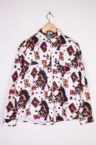 Western Print Button Up