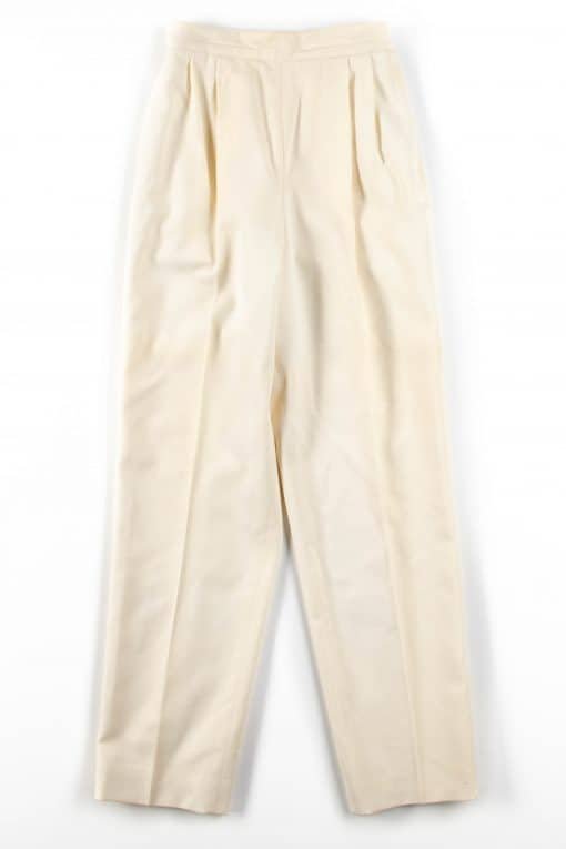Ivory Pleated Wool Pants (sz. 6)